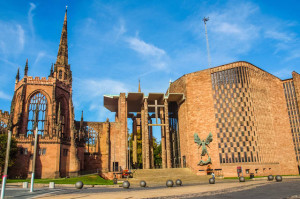 Coventry Cathedral image by Claudio Divizia (via Shutterstock).